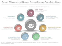See Sample Of International Mergers Concept Diagram Powerpoint Slides
