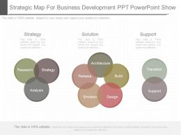 See Strategic Map For Business Development Ppt Powerpoint Show