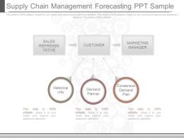 See Supply Chain Management Forecasting Ppt Sample