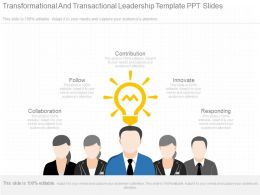 See Transformational And Transactional Leadership Template Ppt Slides