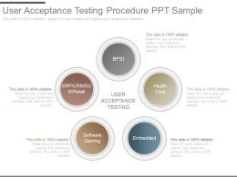 See User Acceptance Testing Procedure Ppt Sample