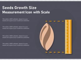 Seeds Growth Size Measurement Icon With Scale