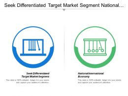 Seek Differentiated Target Market Segment National International Economy