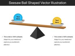 Seesaw Ball Shaped Vector Illustration
