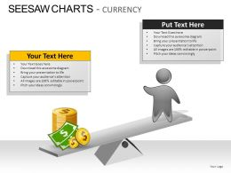 Seesaw Charts Currency Powerpoint Presentation Slides