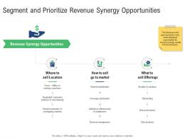 Segment And Prioritize Revenue Synergy Opportunities M And A Synergy Ppt Graphic Tips
