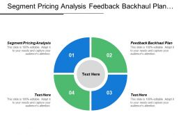 Segment Pricing Analysis Feedback Backhaul Plan Strategy Leader