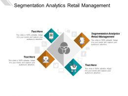 Segmentation Analytics Retail Management Ppt Powerpoint Presentation Portfolio Example Cpb