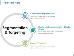 Segmentation And Targeting Ppt Samples