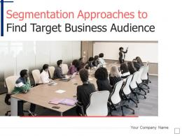 Segmentation Approaches To Find Target Business Audience Powerpoint Presentation Slides