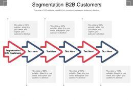 Segmentation B2b Customers Ppt Powerpoint Presentation File Maker Cpb