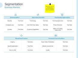 Segmentation Business Markets Ppt Powerpoint Presentation Icon