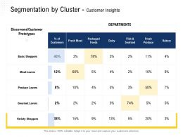 Segmentation By Cluster Customer Insights Fresh Meat Ppt Powerpoint Presentation Icon Tips