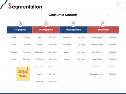 Segmentation Consumer Markets Ppt Powerpoint Presentation File Inspiration