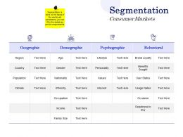 Segmentation Consumer Markets Ppt Powerpoint Presentation Infographic Template Samples
