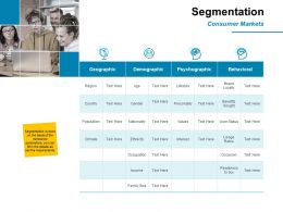 Segmentation Consumer Markets Ppt Powerpoint Presentation Outline Layout