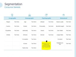 Segmentation Consumer Markets Ppt Powerpoint Presentation Tips