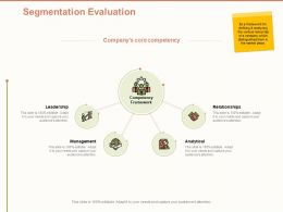 Segmentation Evaluation Analytical Ppt Powerpoint Presentation Gallery