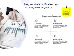 Segmentation Evaluation Companys Core Competency Ppt Powerpoint Presentation File Model