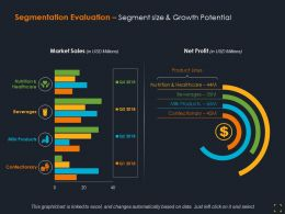 Segmentation Evaluation Segment Size And Growth Potential Ppt Summary Grid