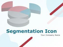 Segmentation Icon Percent Market Targeting Circular Pie Chart Hexagonal Customer