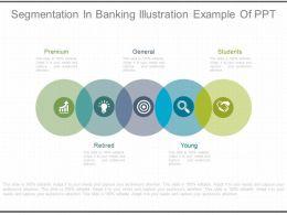 Segmentation In Banking Illustration Example Of Ppt
