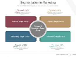 Segmentation In Marketing Powerpoint Slide Presentation Guidelines