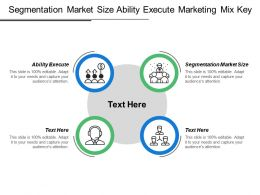 Segmentation Market Size Ability Execute Marketing Mix Key