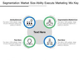 Segmentation Market Size Ability Execute Marketing Mix Key