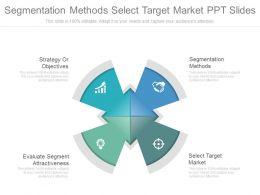Segmentation Methods Select Target Market Ppt Slides