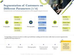 Segmentation Of Customers On Different Parameters Customer Share Of Category Ppt Pictures