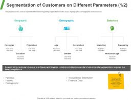 Segmentation Of Customers On Different Parameters Geographic Ppt Powerpoint Presentation Infographics