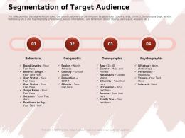 Segmentation Of Target Audience Benefits Ppt Powerpoint Presentation Icon Deck