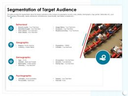 Segmentation Of Target Audience Occasion Ppt Powerpoint Presentation Model Show