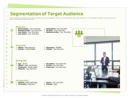 Segmentation Of Target Audience Occupation Ppt Powerpoint Presentation Icon Backgrounds