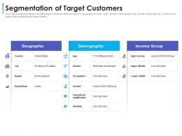 Segmentation Of Target Customers Convertible Debt Financing Ppt Elements
