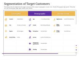 Segmentation Of Target Customers Convertible Loan Stock Financing Ppt Themes