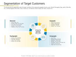 Segmentation Of Target Customers Financial Market Pitch Deck Ppt Background