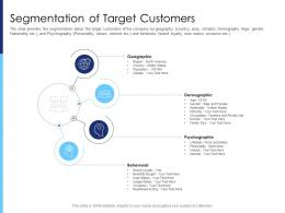 Segmentation Of Target Customers Raise Funds After Market Investment Ppt Icon Layout