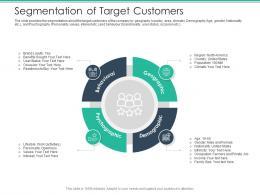 Segmentation Of Target Customers Spot Market Ppt Background