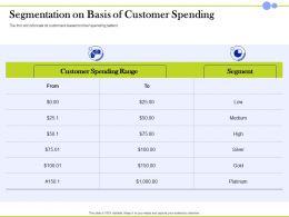 Segmentation On Basis Of Customer Spending Segment Ppt Powerpoint Rules