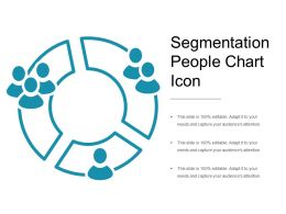 Segmentation People Chart Icon