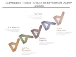 Segmentation Process For Business Development Diagram Templates