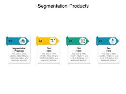 Segmentation Products Ppt Powerpoint Presentation Layout Ideas Cpb