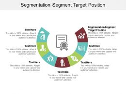 Segmentation Segment Target Position Ppt Powerpoint Presentation Model Visual Aids Cpb