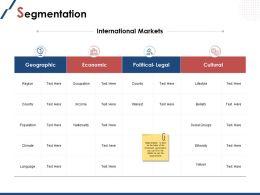 Segmentation Slide International Markets Ppt Powerpoint Presentation File Deck