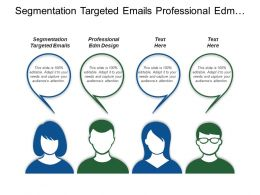 Segmentation Targeted Emails Professional Edm Design Personal Objective