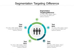 Segmentation Targeting Difference Ppt Powerpoint Presentation Styles Sample Cpb
