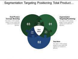 Segmentation Targeting Positioning Total Product Concept Branding Product Differentiation