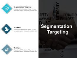 Segmentation Targeting Ppt Powerpoint Presentation Gallery Design Templates Cpb